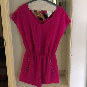 Bright Pink Romper. Worn once, perfect condition.
